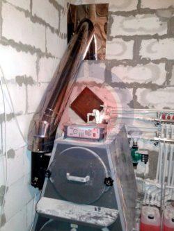 Дымоход из нержавеющей стали для бытового котла