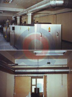 Система отвода продуктов сгорания для промышленных котлов
